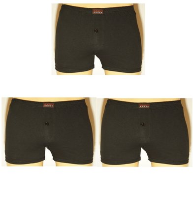Basic 3-Pack Heren boxershorts Zwart
