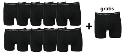 10+1 gratis Heren boxershorts Maxx Owen Zwart