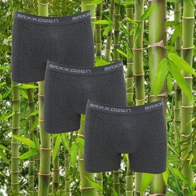 3-pack bamboe heren boxershorts Maxx Owen Antraciet