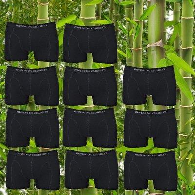 10+1 gratis Bamboe heren boxershorts Maxx Owen Zwart