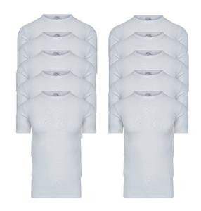 10-Pack Heren T-shirts met O-hals en K.M. M3000 Wit