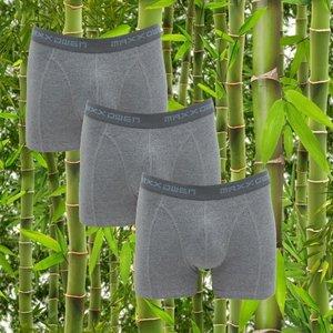 3-pack bamboe heren boxershorts Maxx Owen Grijs