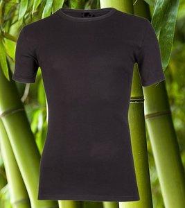 Bamboe heren T-shirt met ronde hals en K.M. Zwart