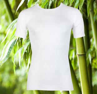 5-Pack Bamboe heren T-shirts met ronde hals en K.M. Wit