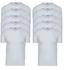 10-Pack Heren T-shirts met V-hals en K.M. M3000 Wit_